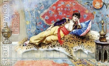 The Favorite by Jean-Leon Gerome Ferris - Reproduction Oil Painting