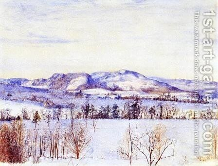 Monument Mountain by Henry Roderick Newman - Reproduction Oil Painting