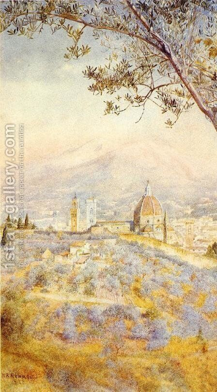 View of Florence from the East by Henry Roderick Newman - Reproduction Oil Painting