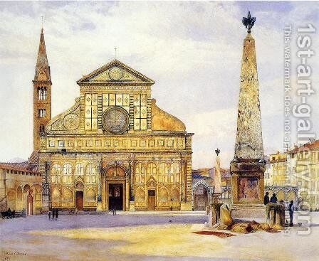 View of Santa Maria Novella by Henry Roderick Newman - Reproduction Oil Painting