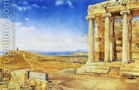 The Temple of Athena Nike on nthe Acropolis by Henry Roderick Newman - Reproduction Oil Painting