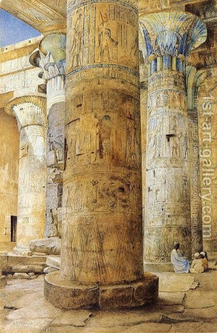 Hall of Columns, Philae by Henry Roderick Newman - Reproduction Oil Painting