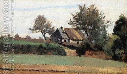 Archicourt, Near Arras by Jean-Baptiste-Camille Corot - Reproduction Oil Painting