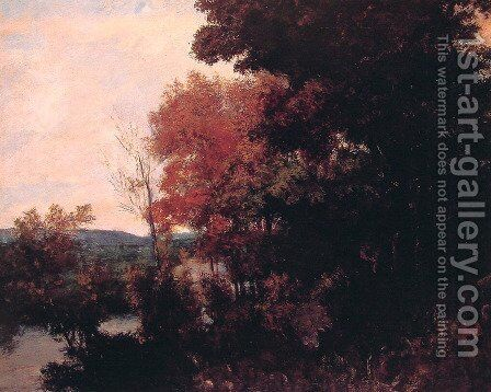 The Forest Edge by Gustave Courbet - Reproduction Oil Painting