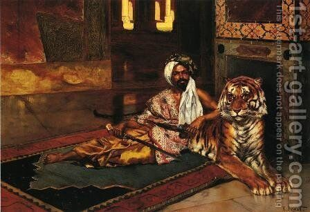 The Sheik's Favoriite by Horace Vernet - Reproduction Oil Painting