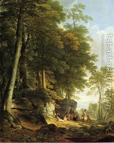Indian Rescue by Asher Brown Durand - Reproduction Oil Painting