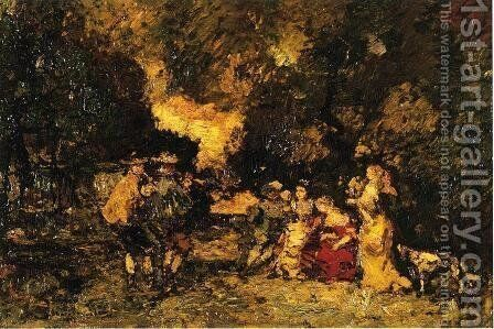 Garden Party by Adolphe Joseph Thomas Monticelli - Reproduction Oil Painting