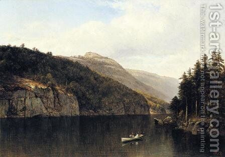Looking West, from Dollar Island, Lake George by David Johnson - Reproduction Oil Painting