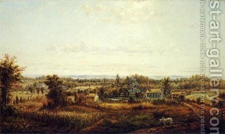 Country Landscape by Edward Lamson Henry - Reproduction Oil Painting