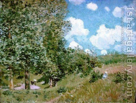 Road from Versailles to Saint-Germain by Alfred Sisley - Reproduction Oil Painting