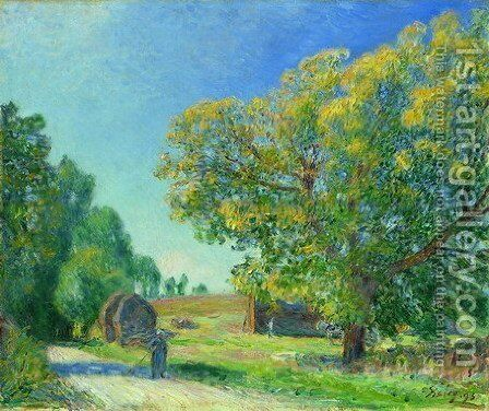 A Forest Clearing by Alfred Sisley - Reproduction Oil Painting