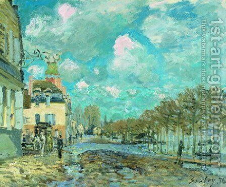 Flood at Port-Marly V by Alfred Sisley - Reproduction Oil Painting