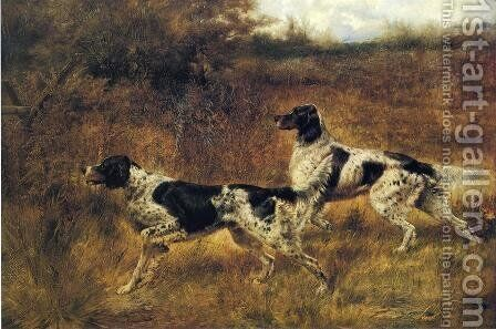 Hunting Dogs by Edmund Henry Osthaus - Reproduction Oil Painting