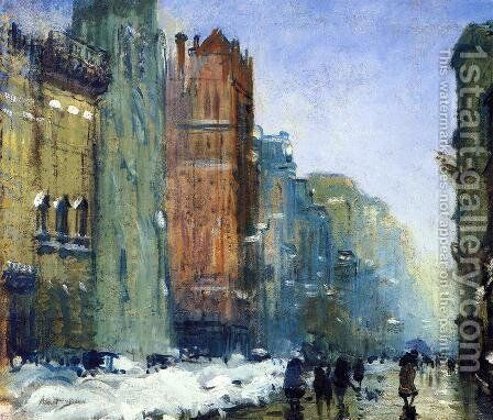 Fifth Avenue, New York by Arthur C. Goodwin - Reproduction Oil Painting