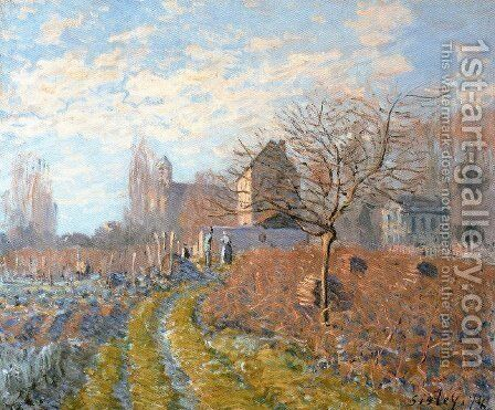 Hoar Frost -St. Martin's Summer (Indian Summer) by Alfred Sisley - Reproduction Oil Painting