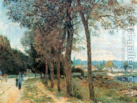 The Seine at Marly by Alfred Sisley - Reproduction Oil Painting