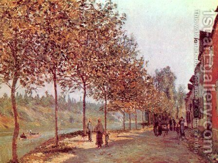 Morning in June by Alfred Sisley - Reproduction Oil Painting