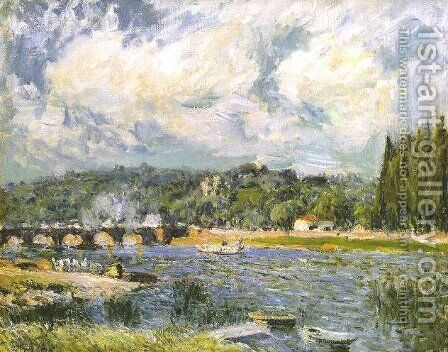 The Bridge of Sevres by Alfred Sisley - Reproduction Oil Painting