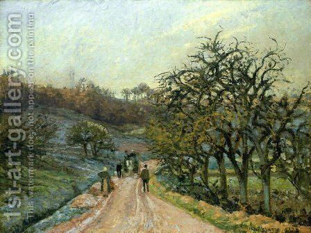 Lane of Apple Trees near Osny, Pontoise by Camille Pissarro - Reproduction Oil Painting