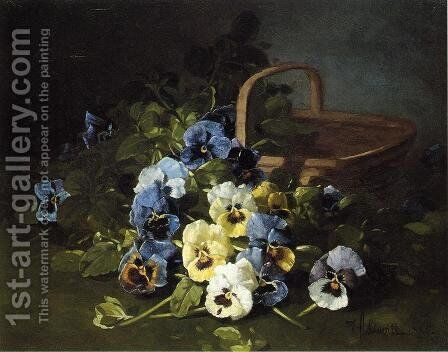 Pansies by Edward Chalmers Leavitt - Reproduction Oil Painting