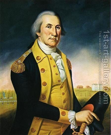 Portrait of George Washington before Nassau Hall by Charles Peale Polk - Reproduction Oil Painting
