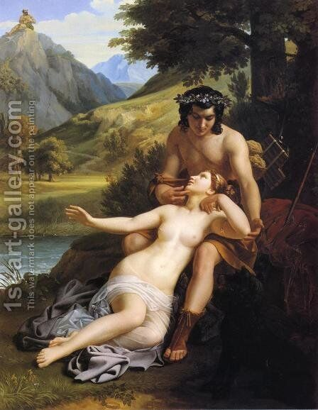 The Loves of Acis and Galatea by Alexandre Charles Guillemot - Reproduction Oil Painting