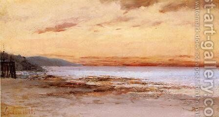 The Beach at Trouville by Gustave Courbet - Reproduction Oil Painting