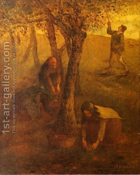 Gathering Apples by Jean-Francois Millet - Reproduction Oil Painting