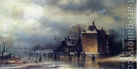 Frozen Winter Landscape by Anton Doll - Reproduction Oil Painting