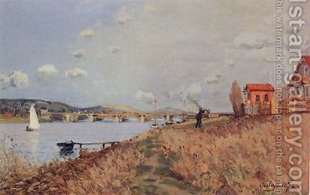 The Bridge at Argenteuil by Alfred Sisley - Reproduction Oil Painting