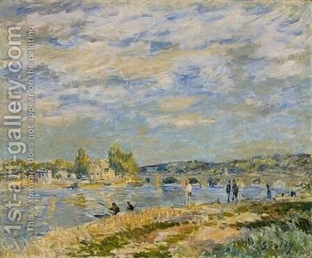 Bridge at Serves by Alfred Sisley - Reproduction Oil Painting