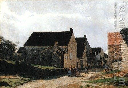 Street of Marlotte by Alfred Sisley - Reproduction Oil Painting