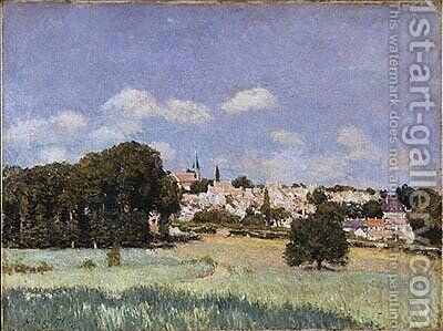 View of Saint-Cloud, Sunshine by Alfred Sisley - Reproduction Oil Painting