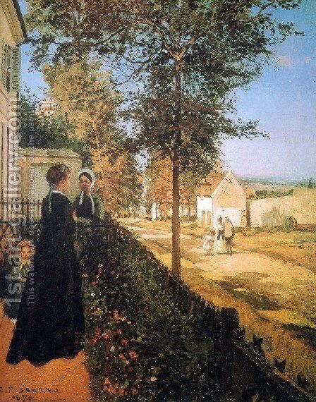 Road from Versailles to Louveciennes by Camille Pissarro - Reproduction Oil Painting