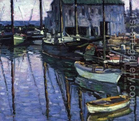 Rockport at Sunrise by Charles Salis Kaelin - Reproduction Oil Painting