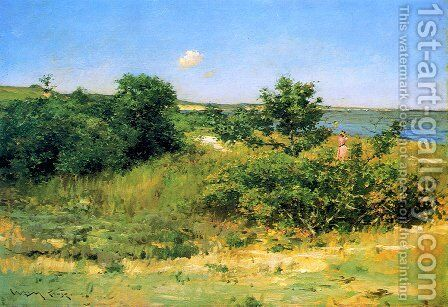 Shinnecock Hills, Peconic Bay by William Merritt Chase - Reproduction Oil Painting