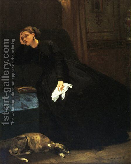 The Lost Love by Auguste Toulmouche - Reproduction Oil Painting