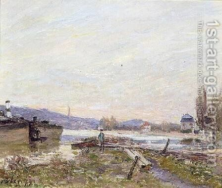 Banks of the Seine I by Alfred Sisley - Reproduction Oil Painting