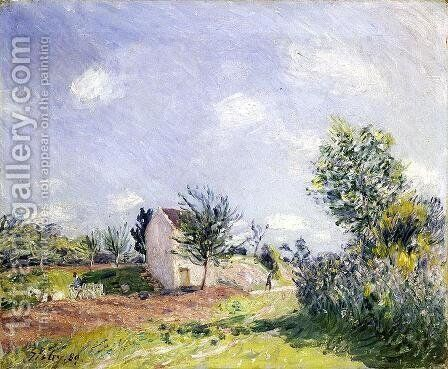 Springtime by Alfred Sisley - Reproduction Oil Painting