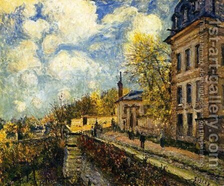 The Factory at Sevres by Alfred Sisley - Reproduction Oil Painting