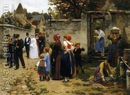 The Wedding Procession by Guillaume Seignac - Reproduction Oil Painting