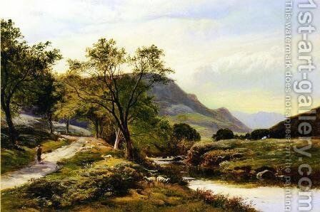 Near Trefriw, North Wales by Sidney Richard Percy - Reproduction Oil Painting