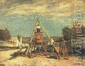 Pit Sawyers by Alfred Sisley - Reproduction Oil Painting