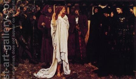 The Penance of Eleanor, Duchess of Glouster by Edwin Austin Abbey - Reproduction Oil Painting