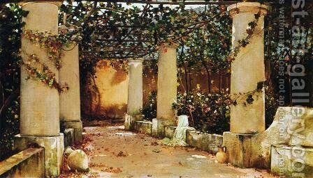 The Villa Castello, Capri by Charles Caryl Coleman - Reproduction Oil Painting