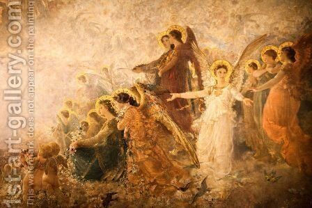 Light of the Incarnation by Carl Gutherz - Reproduction Oil Painting