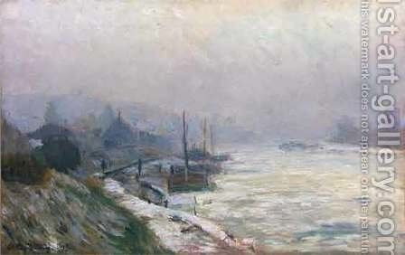 The Seine in Winter by Albert Lebourg - Reproduction Oil Painting