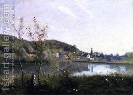 Ville d'Avray - The Large Pond and the Villas by Jean-Baptiste-Camille Corot - Reproduction Oil Painting