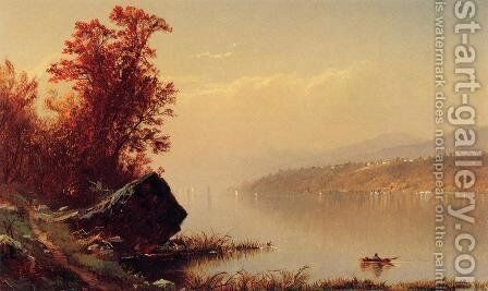 Up the Hudson by Alfred Thompson Bricher - Reproduction Oil Painting