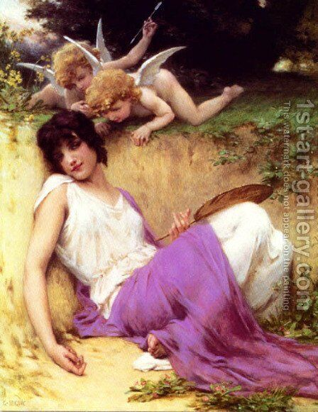 Beautiful Girl Angel by Guillaume Seignac - Reproduction Oil Painting